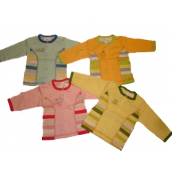 Marškinėliai kūdikiams Gamex, priekyje susagstomi, 74 dydis