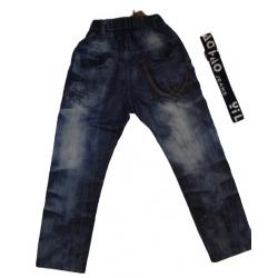 Kelnės džinsinės su diržu, 122 dydis