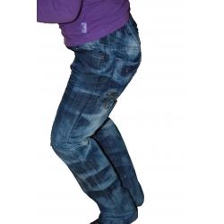 Kelnės džinsinės su diržu, 110 dydis