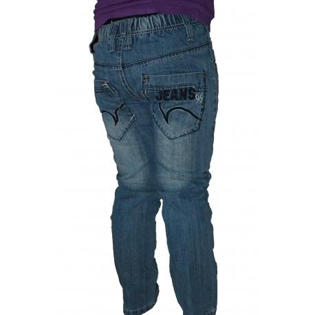 Kelnės džinsinės su diržu