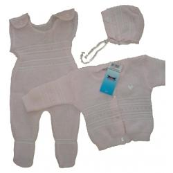 Komplektas kūdikiams Joanna megztas trijų dalių, 74 dydis